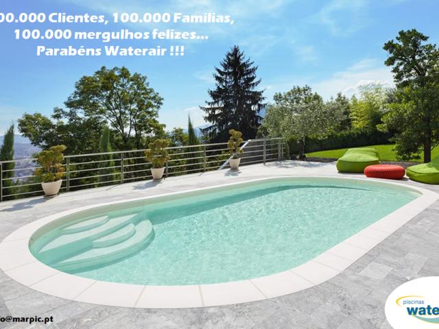 100.000 Clientes – Parabéns Waterair !!!