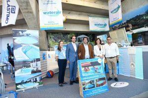 Visita ao Stand das Piscinas Waterair pelo Presidente do Governo Regional da Madeira